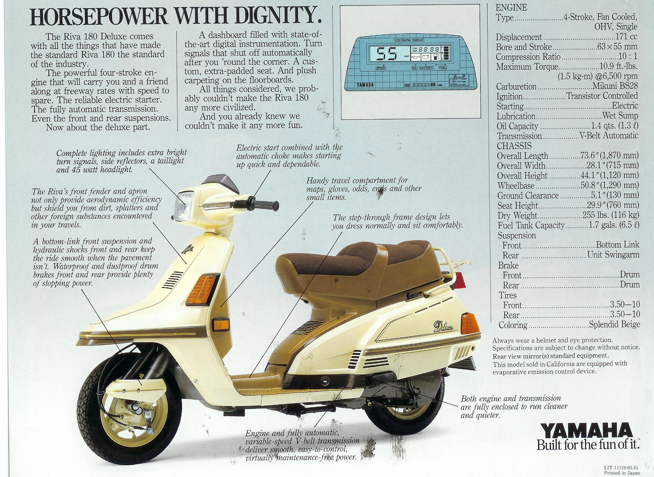Battery For Yamaha Riva